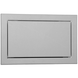 [P765-S] Duten P8568 trappe d'introduction rectangulaire avec battant, finition inox brossé - Garantie 25 ans